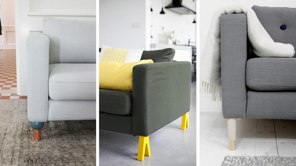 Customiser son canapé avec des pieds