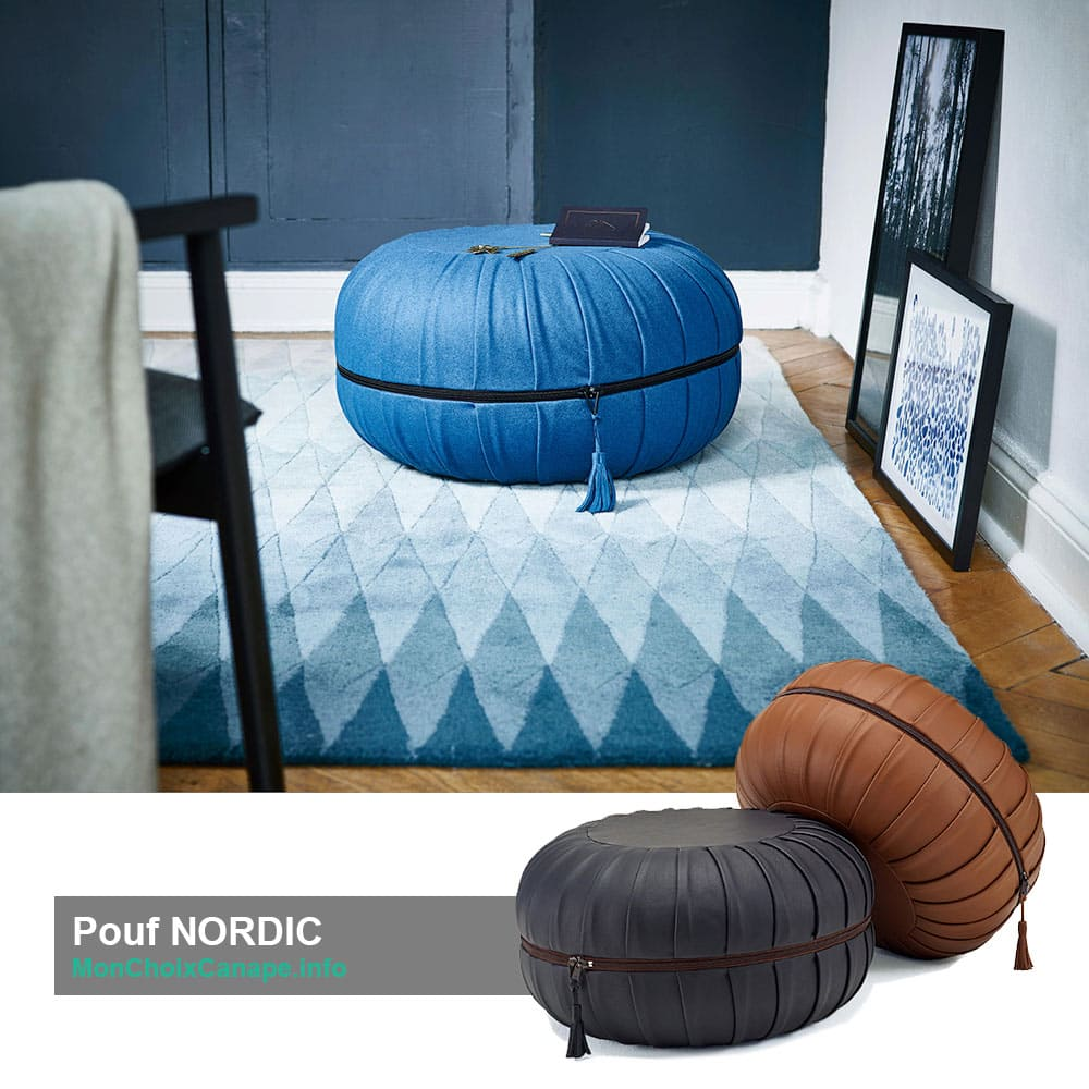 Pouf rond Nordic