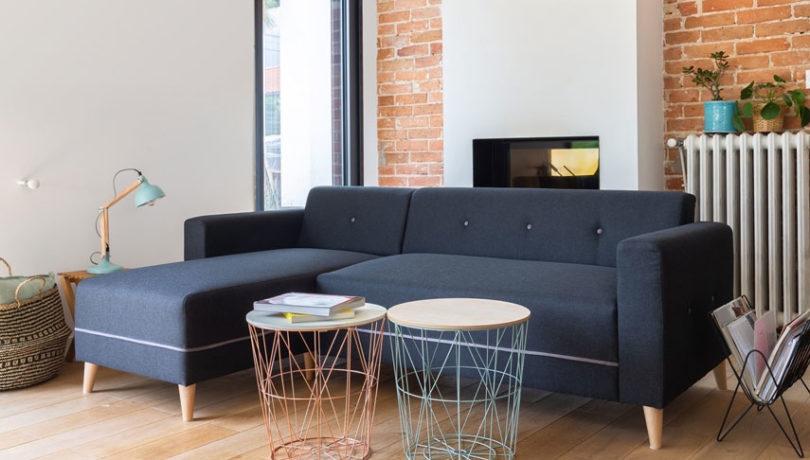 Canapé d'angle réversible : à gauche ou à droite