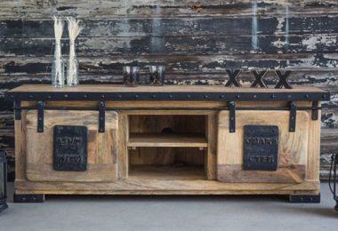 Meuble TV industriel factory bois metal