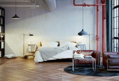 Peinture de mur pour un salon style factory indus