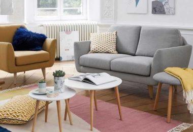 Petit canapé 2 places pour salon scandinave