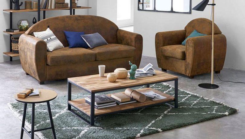 table basse a associer avec un canapé d'angle