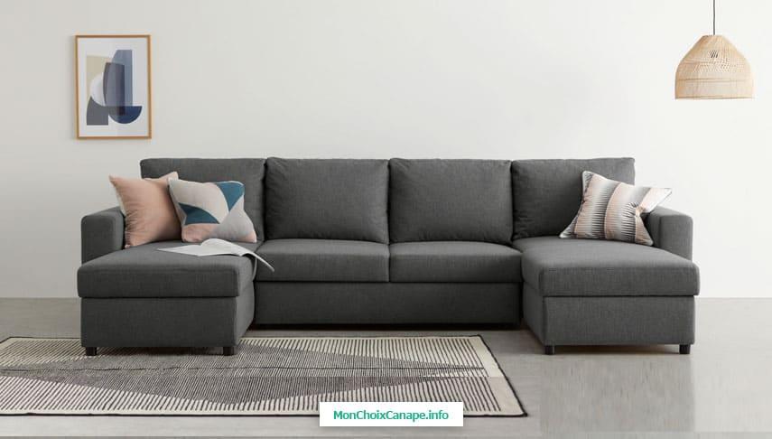 Canapé d'angle Edmond en tissu chiné de Made
