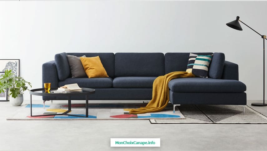 Canapé d'angle avec méridienne Monterosso de Made