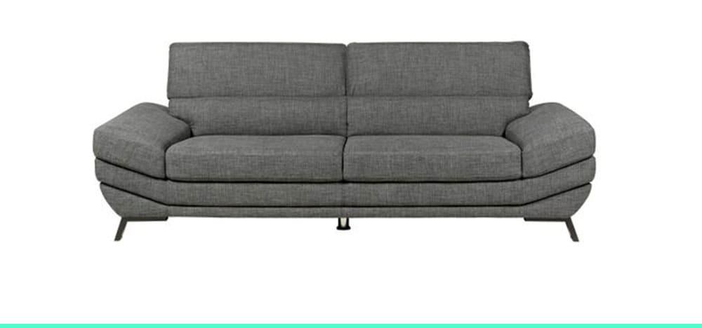 Canapé droit avec têtière relevable Mathis